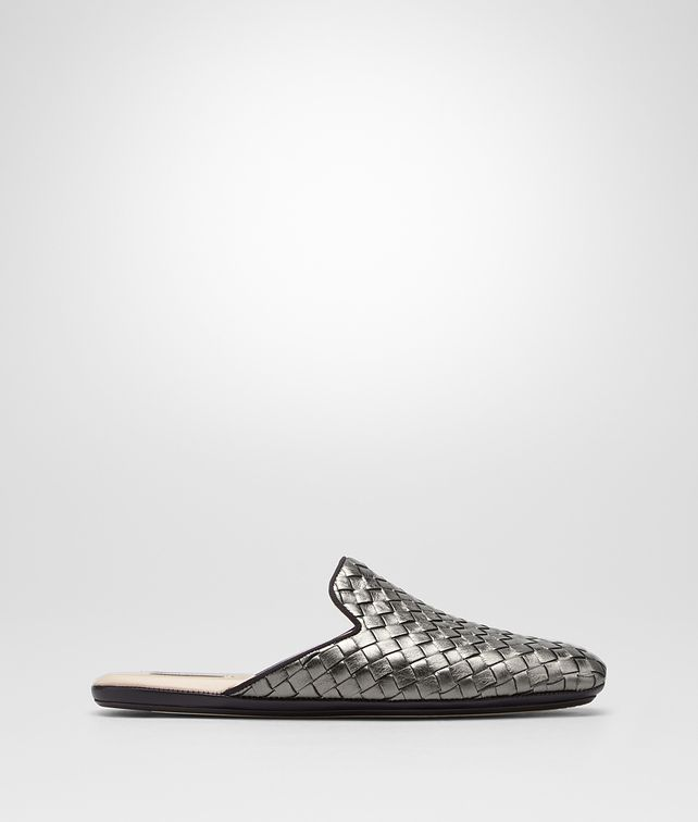 BOTTEGA VENETA DARK MOSS INTRECCIATO NAPPA FIANDRA SLIPPER Flat [*** pickupInStoreShipping_info ***] fp