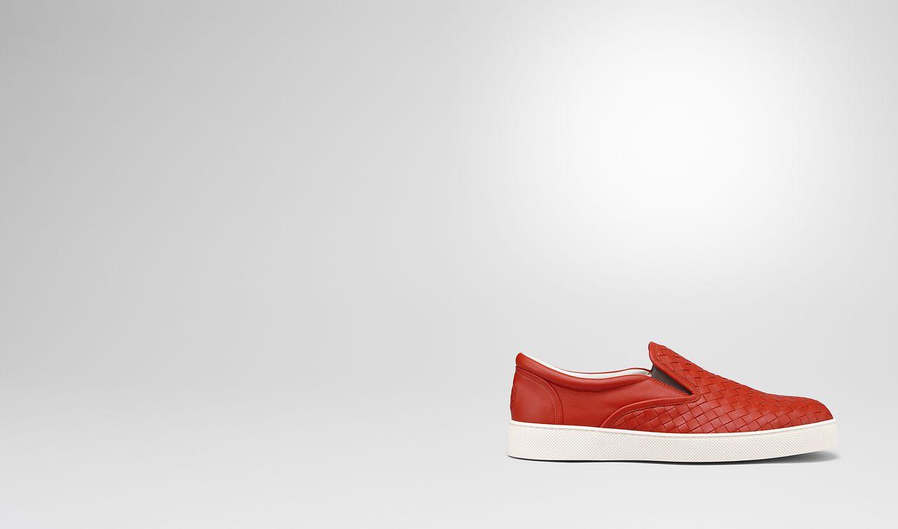 dark terracotta intrecciato nappa dodger sneaker landing