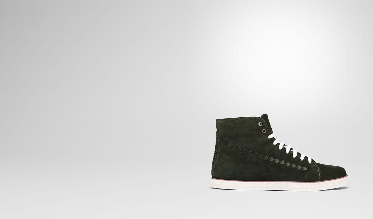 dark moss suede glax sneaker landing