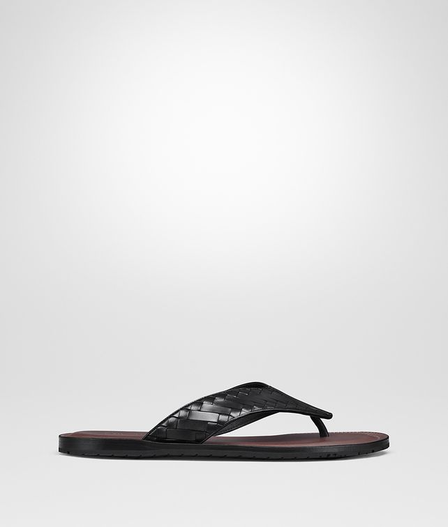 BOTTEGA VENETA NERO INTRECCIATO CALF SAPA FLIP FLOP Sandals [*** pickupInStoreShippingNotGuaranteed_info ***] fp