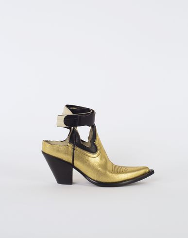 MAISON MARGIELA Sandals Woman Gold cut-out cowboy boots f