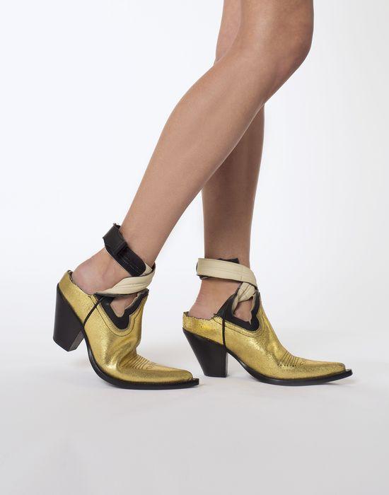 56434ee1cf8 Maison Margiela Gold Cut Out Cowboy Boots Women   Maison Margiela Store