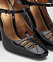 BOTTEGA VENETA NERO PATENT CALF POLIGNAC MARY JANE Pump or Sandal D ap