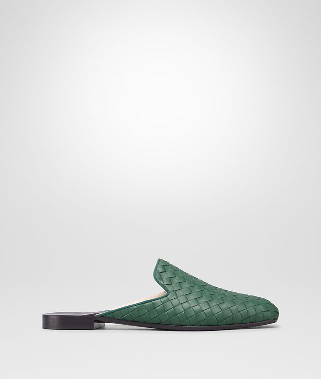 BOTTEGA VENETA DARK MOSS INTRECCIATO NAPPA FIANDRA SLIPPER Flat Woman fp