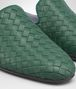 BOTTEGA VENETA DARK MOSS INTRECCIATO NAPPA FIANDRA SLIPPER Flat Woman ap