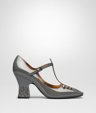 LIGHT GREY PATENT CALF POLIGNAC MARY JANE