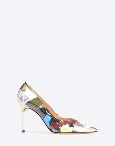 MAISON MARGIELA Deconstructed patchwork pumps  Closed-toe slip-ons D f