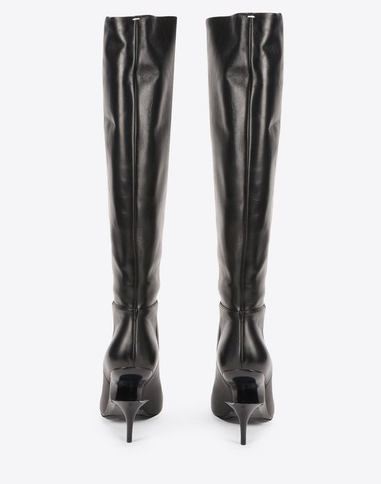 Best Sale Cheap Price Black Cut Heel Knee-High Boots Maison Martin Margiela Low Price Cheap Price Cheap For Nice Outlet Looking For whJTr5
