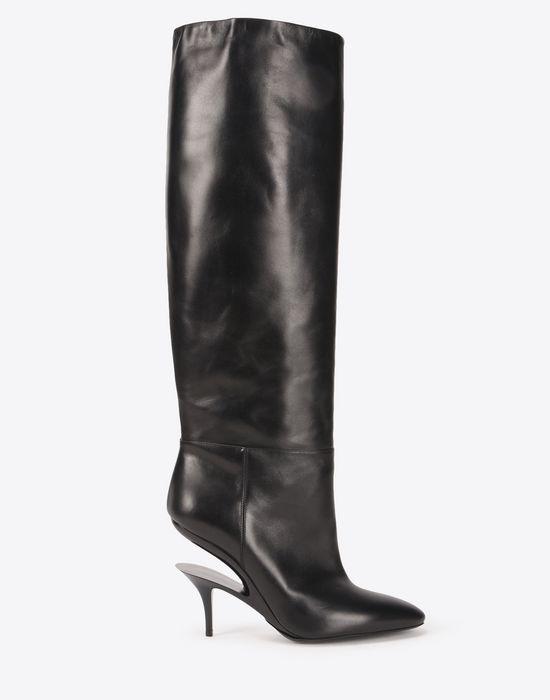 Maison Margiela Cut Heel Knee-High Boots