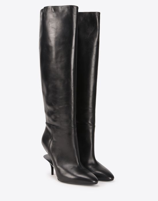 Maison Margiela Cutout Heel Knee-High Boots free shipping discounts buy cheap good selling affordable KnaCXdhwU
