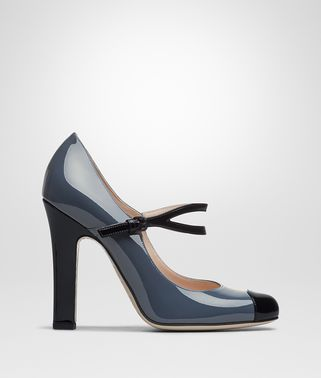 DENIM PATENT CALF BETTE PUMP