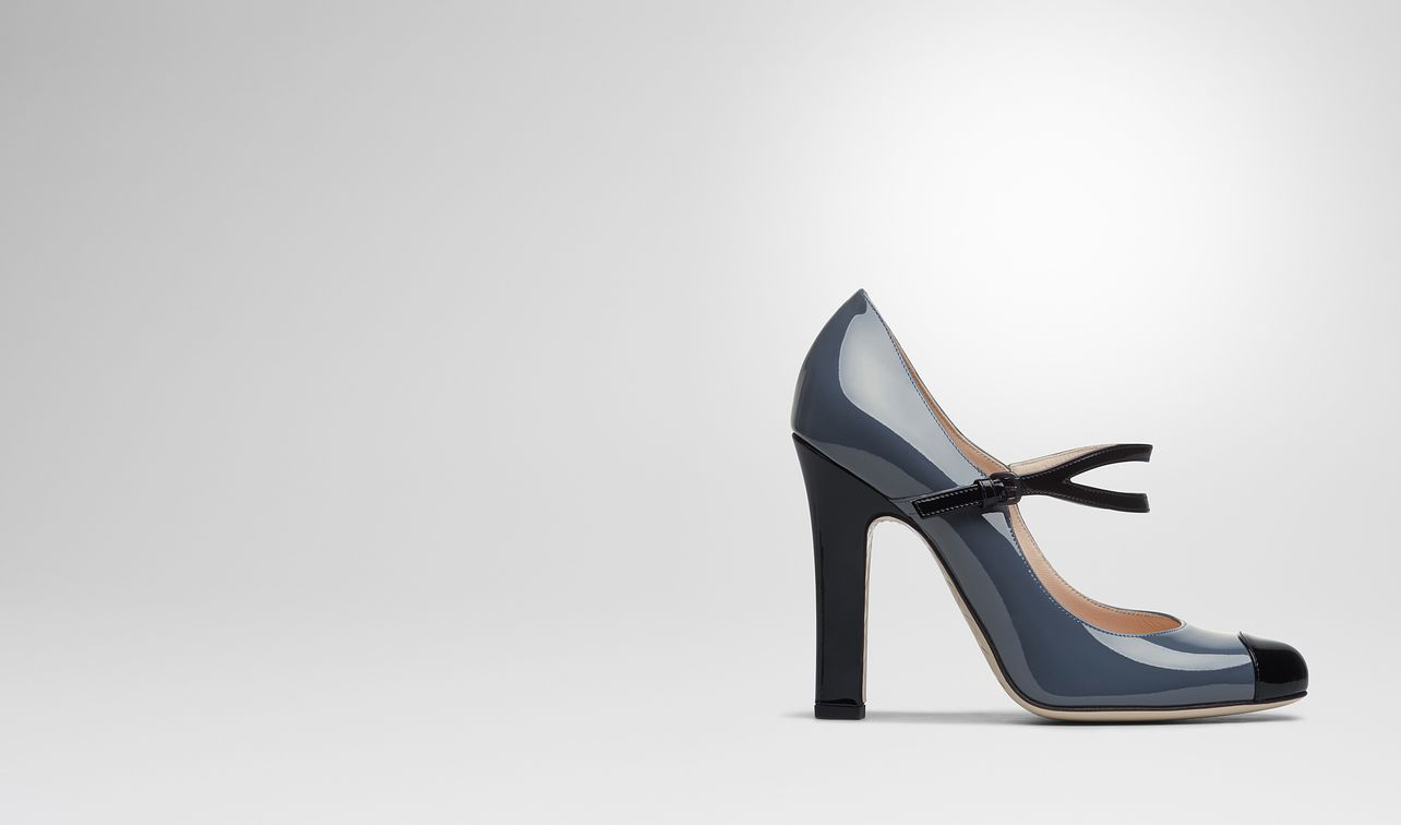 denim patent calf bette pump landing