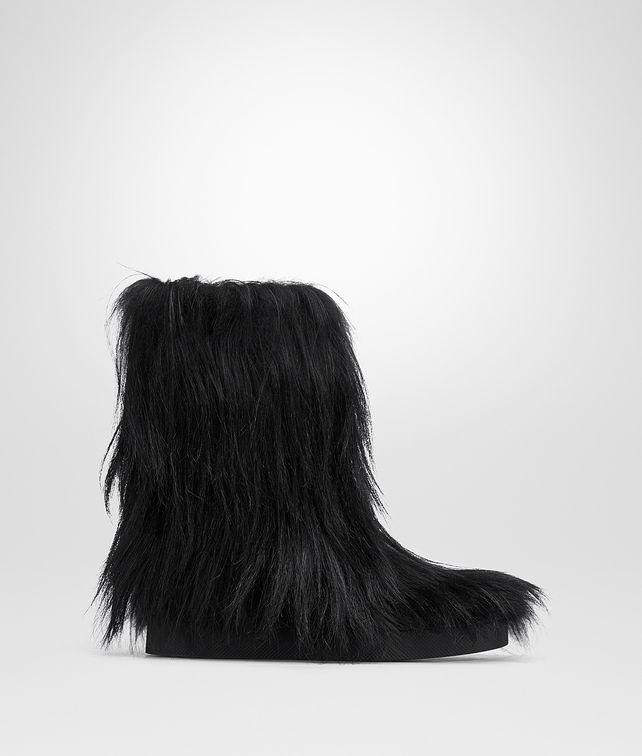 BOTTEGA VENETA NERO GOAT FUR ATHABASKA BOOT Boots and ankle boots Woman fp
