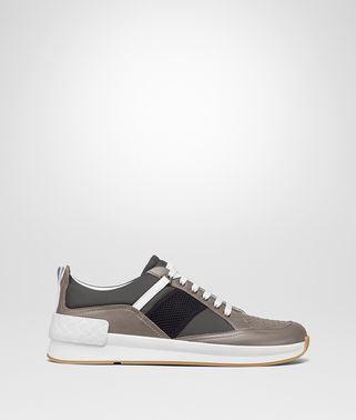 SNEAKER BV GRAND IN TESSUTO MULTICOLOR E VITELLO STEEL