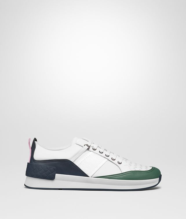 BOTTEGA VENETA SNEAKER BV GRAND IN TESSUTO BIANCO E VITELLO MULTICOLOR Sneakers Uomo fp