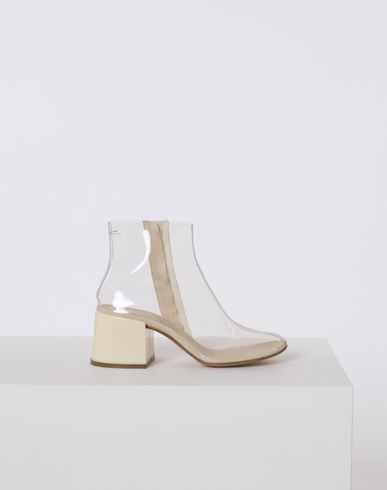 MM6 MAISON MARGIELA Ankle boots D Transparent PVC flared-heel ankle boots f