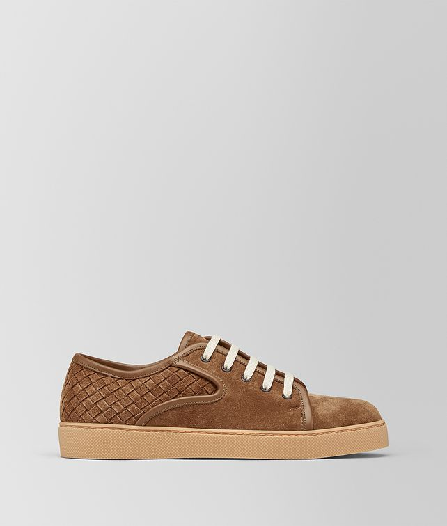 Intrecciato leather and suede sneakers Bottega Veneta TwYL10GyEp