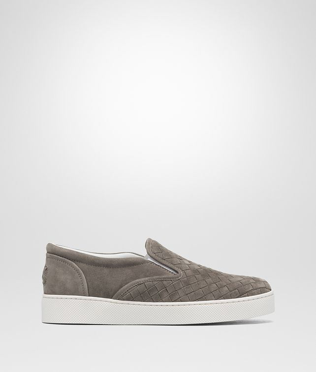 BOTTEGA VENETA STEEL INTRECCIATO SUEDE DODGER SNEAKER Sneakers Woman fp