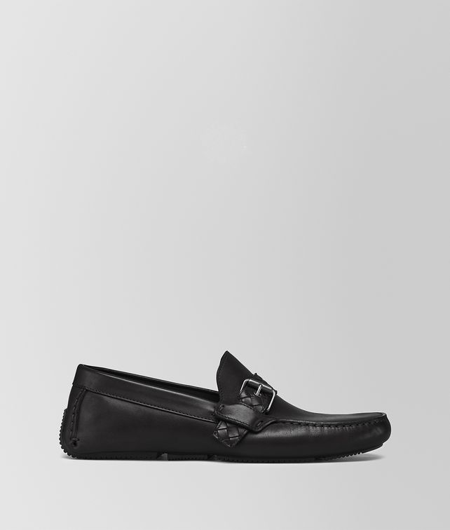 BOTTEGA VENETA NERO CALF WAVE BUCKLE DRIVER Mocassin or Slipper Man fp