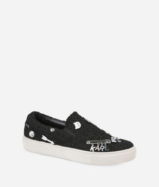 KARL LAGERFELD Slip-on-Sneakers KUPSOLE Souvenir mit Ansteckern 12_f