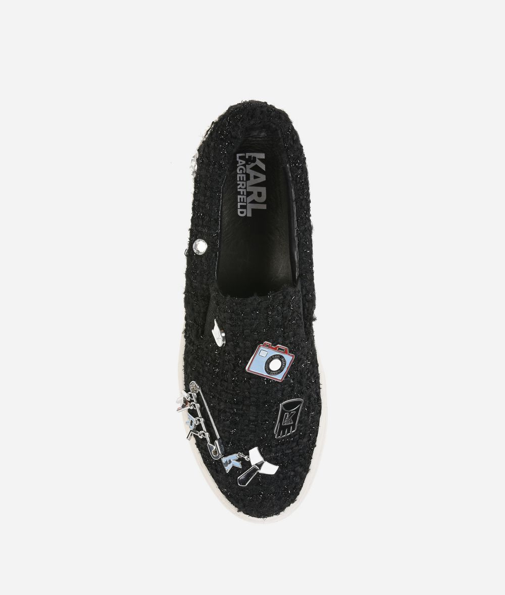 KARL LAGERFELD KUPSOLE Souvenir Pin Slip-on Sneakers Woman d