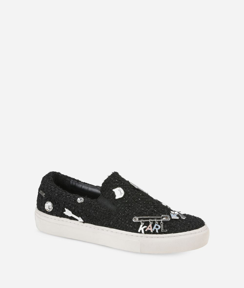 KARL LAGERFELD KUPSOLE Souvenir Pin Slip-on Sneakers Woman f