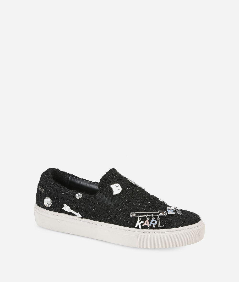 KARL LAGERFELD KUPSOLE Souvenir Pin Slip-on Sneakers Woman f