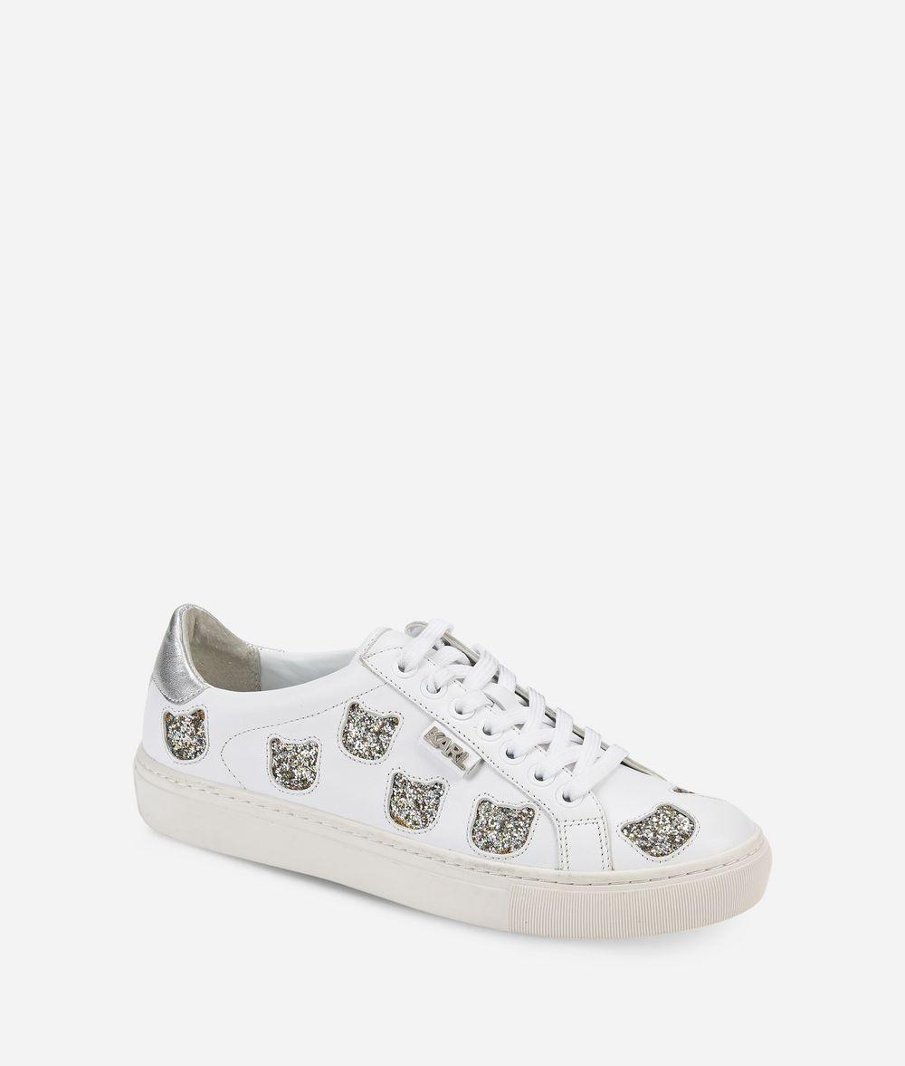 KARL LAGERFELD KUPSOLE Choupette Inlay Lace-up Sneakers Woman f