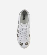 KARL LAGERFELD KUPSOLE Choupette Inlay Lace-up Sneakers Woman d