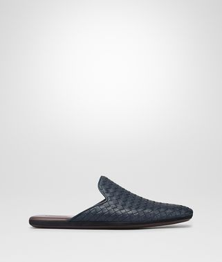 SLIPPER FIANDRA IN INTRECCIATO NAPPA DARK MOSS