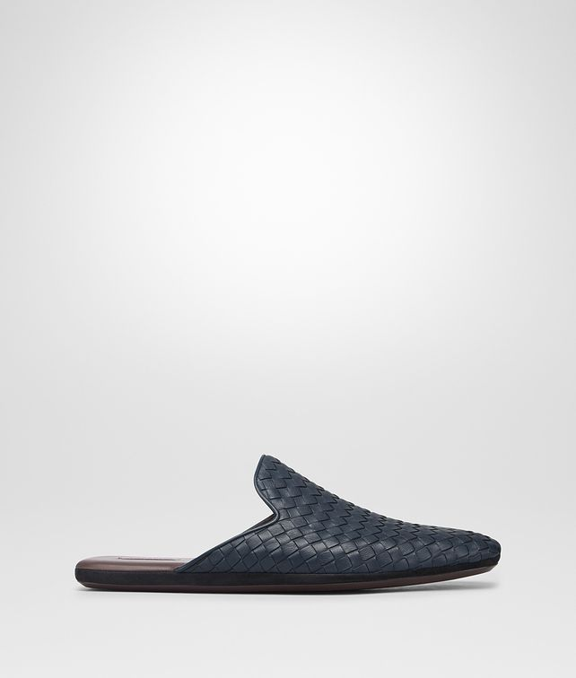 BOTTEGA VENETA DENIM INTRECCIATO CALF FIANDRA SLIPPER Mocassin or Slipper [*** pickupInStoreShippingNotGuaranteed_info ***] fp