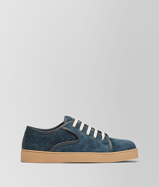 BOTTEGA VENETA DENIM BLUE INTRECCIATO SUEDE DODGER SNEAKER Trainers [*** pickupInStoreShippingNotGuaranteed_info ***] fp