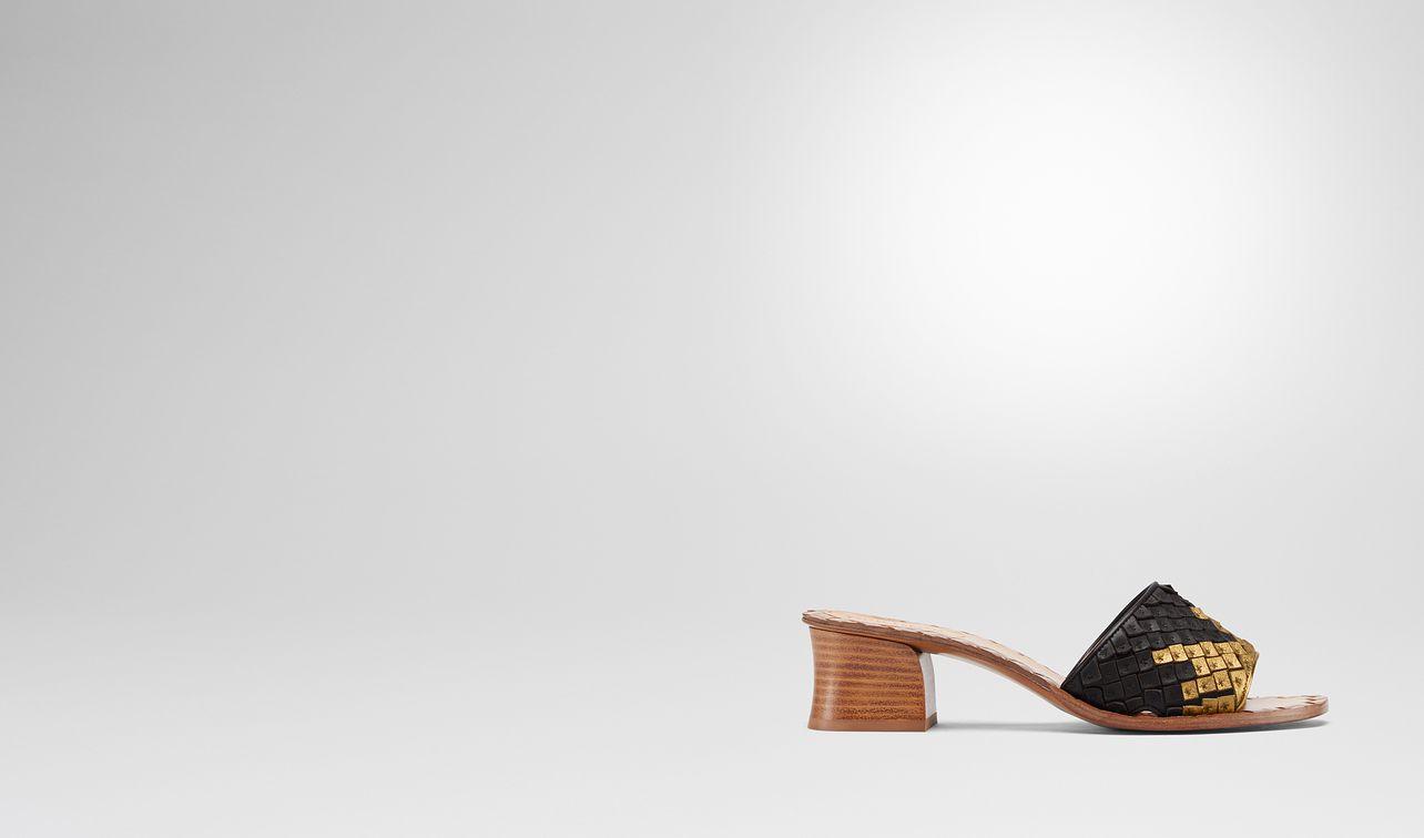sandales ravello en cuir nappa nero oro antico landing