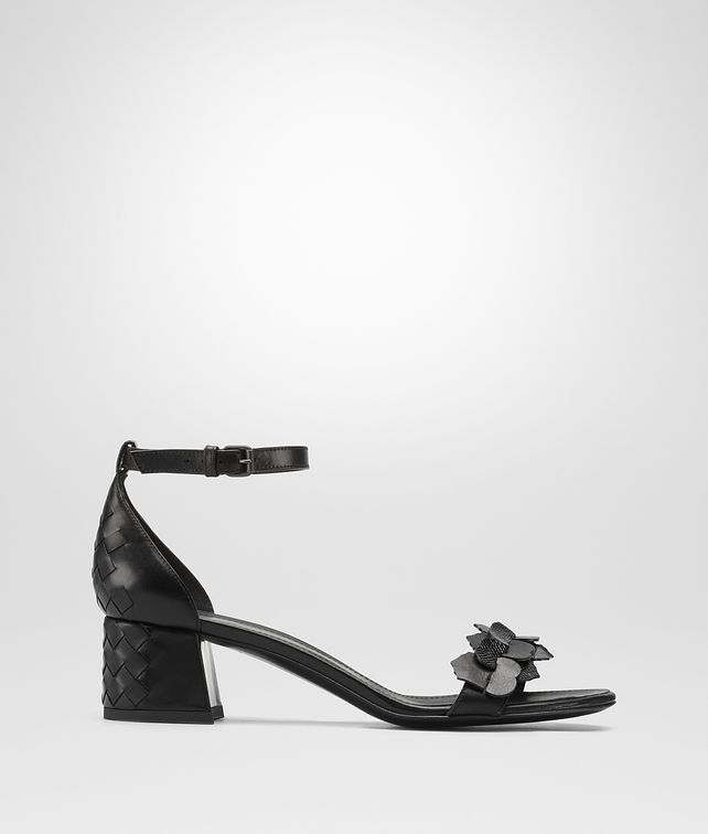 BOTTEGA VENETA NERO INTRECCIATO CALF KARUNG CHERBOURG SANDAL Sandals Woman fp