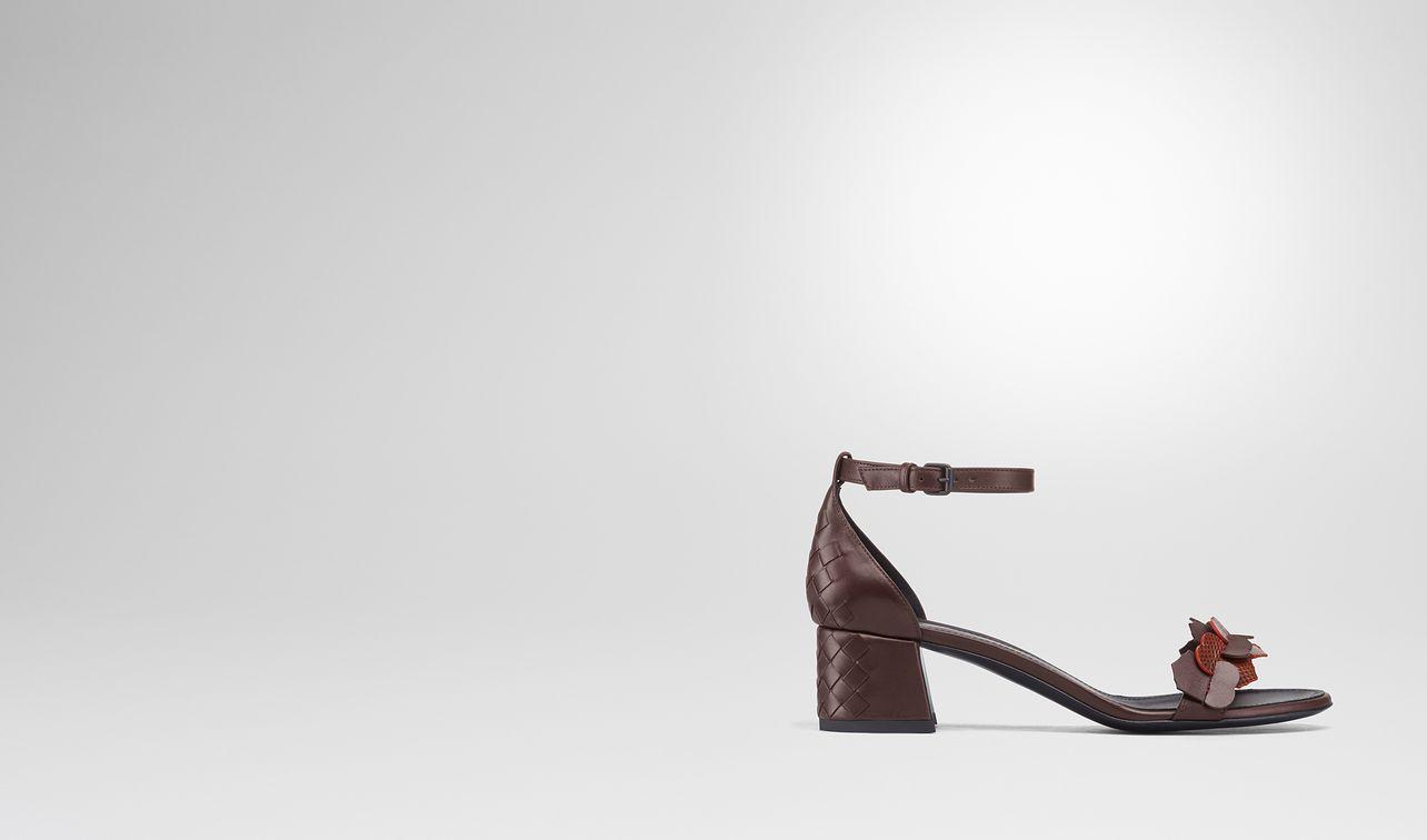 dark barolo intrecciato calf karung cherbourg sandal landing