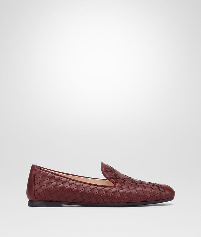 BOTTEGA VENETA GIGOLO RED INTRECCIATO NAPPA FIANDRA SLIPPER Flat Woman fp