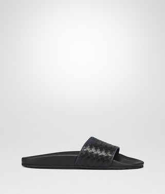 DENIM NERO INTRECCIATO NAPPA LAKE GALAXY SANDAL