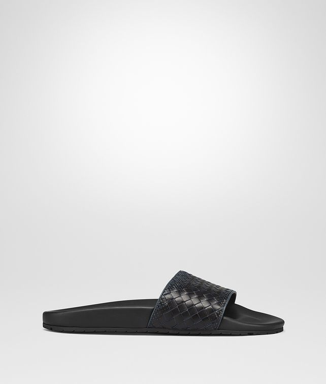 BOTTEGA VENETA DENIM NERO INTRECCIATO NAPPA LAKE GALAXY SANDAL Sandals Man fp