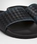 denim nero intrecciato nappa lake galaxy sandal Front Detail Portrait