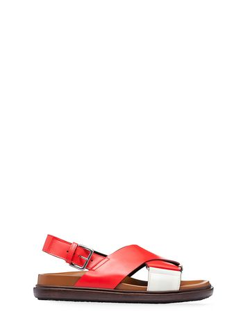 Marni Crossover Fussbett with leather strap Woman