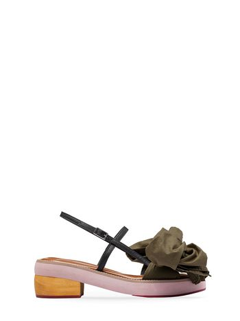 Marni Sandal with cotton bow Woman