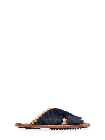 Marni Mule sandal in fur Woman