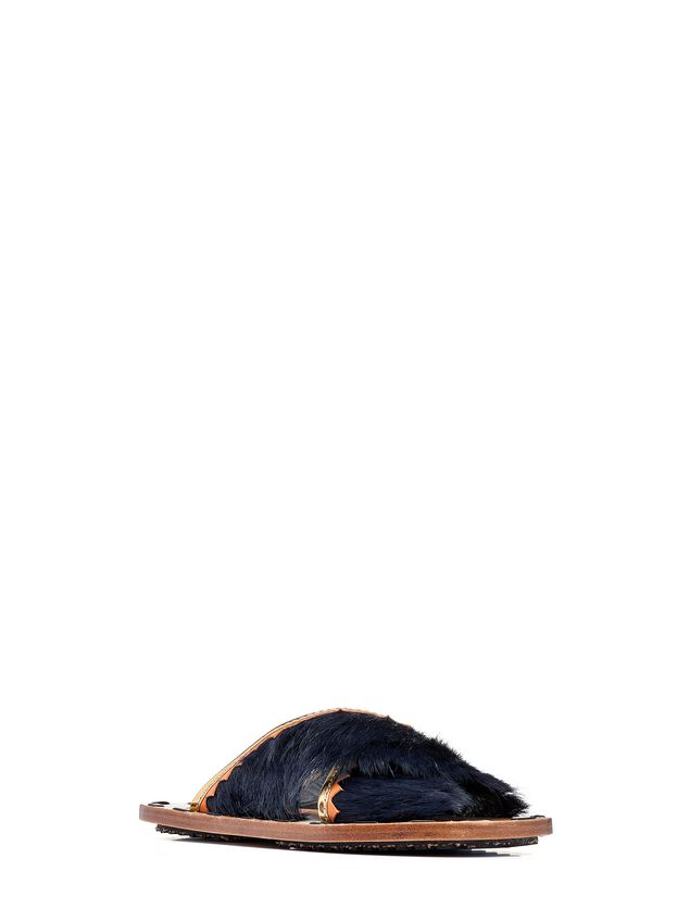 Marni Sandalo sabot in pelliccia Donna - 2