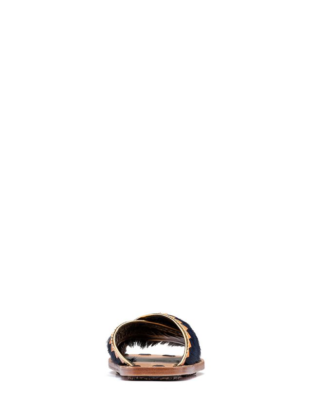 Marni Sandalo sabot in pelliccia Donna - 3