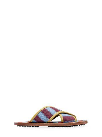 Marni Mule sandal in woven cotton Woman