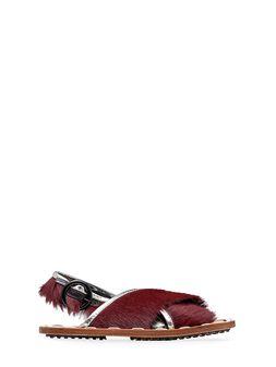 Marni Sandalo in vitello effetto pony Donna