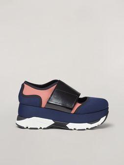 Marni Sneaker in techno fabric blue Woman
