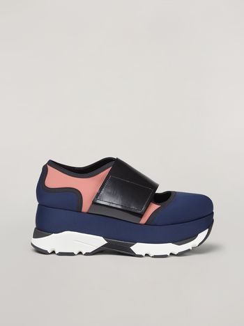 Marni Sneaker in tessuto tecnico blu Donna