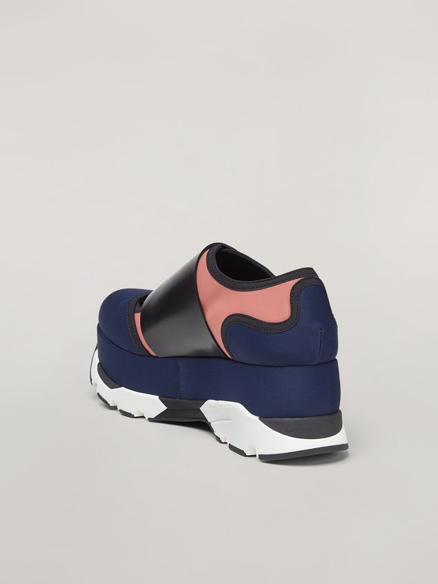 Marni Sneaker in blue technical fabric Woman