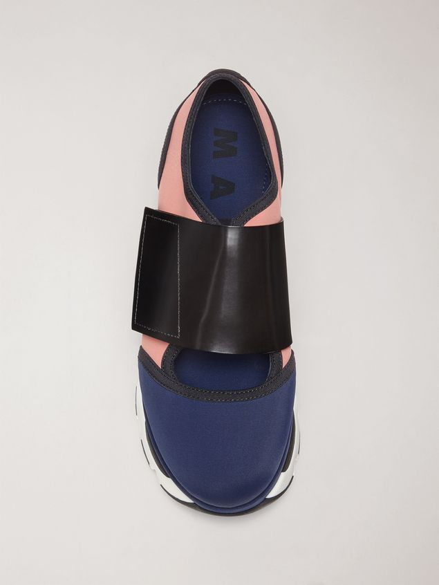 Marni Sneaker in techno fabric blue Woman - 4